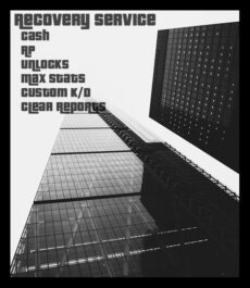 GTA 5 Recovery Service (Cash and Levels) (PC)
