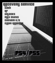 GTA 5 Recovery Service (Cash and Levels) (PS4/PS5)